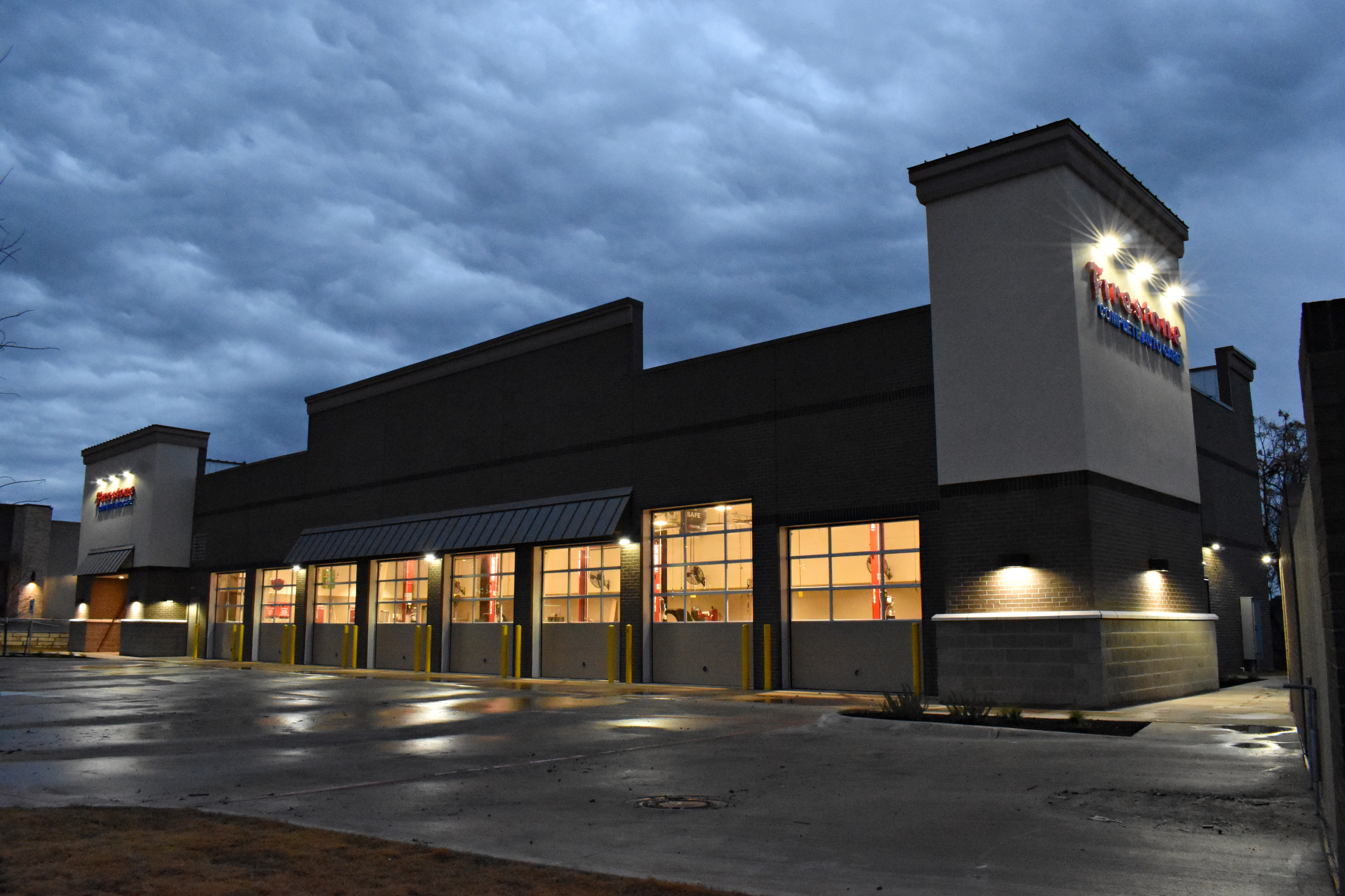 Ground-up Firestone retail automotive store by Westwood Contractors.